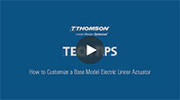 TechTip: How to Customize a Base Model Electric Linear Actuator