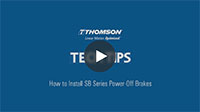 Techtip: How to Install SB Series Power-Off Brakes