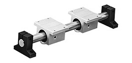 1Nx End Support RoundRail Linear Guide System