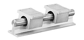 1Cx Continuous Support RoundRail Linear Guide System